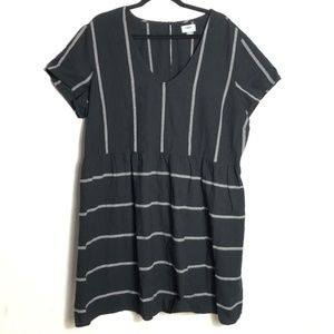 👻 Old Navy striped jacquard swing dress